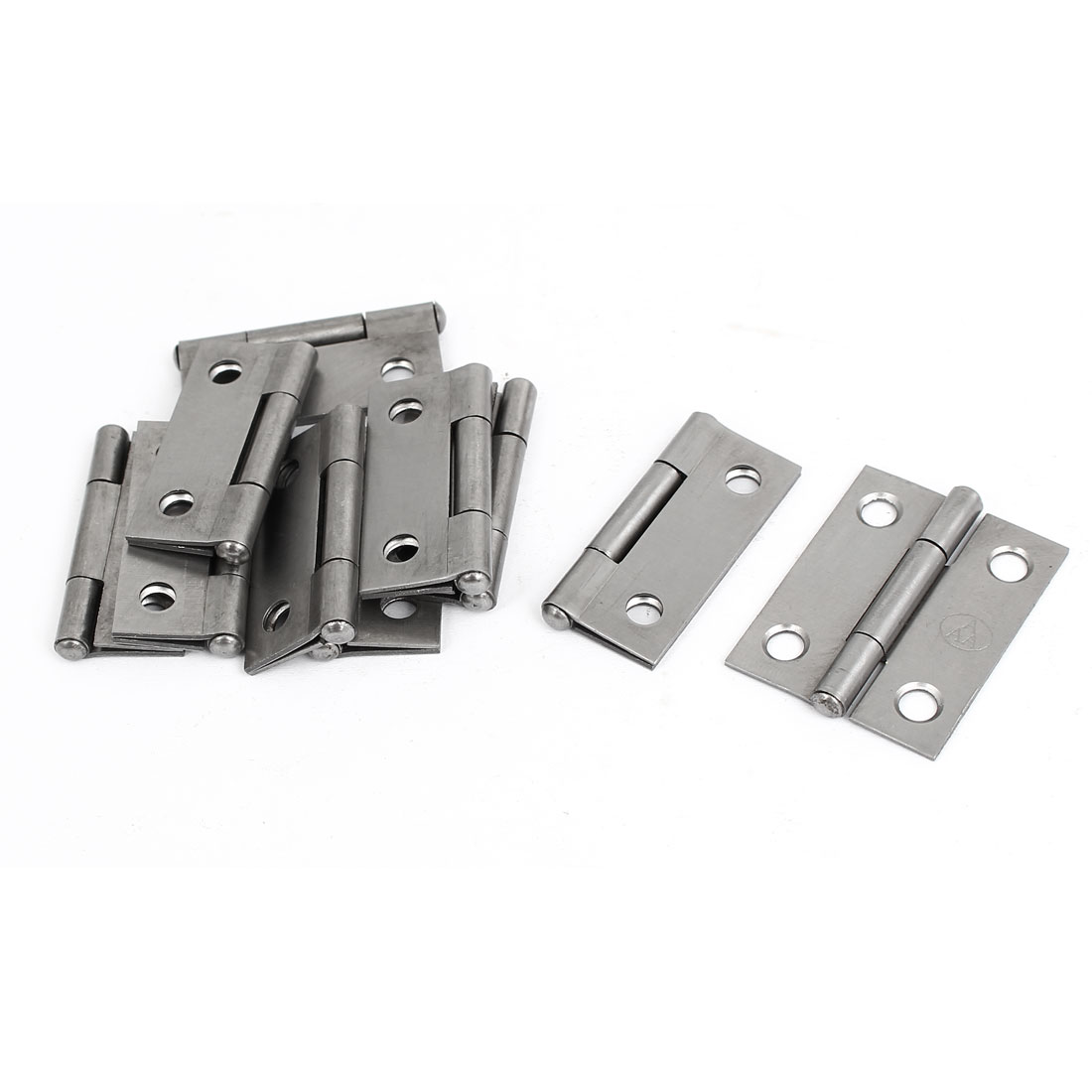 "Cupboard Showcase Door Toolbox Iron Butt Hinge Silver Gray 1.5"" Long 10pcs"