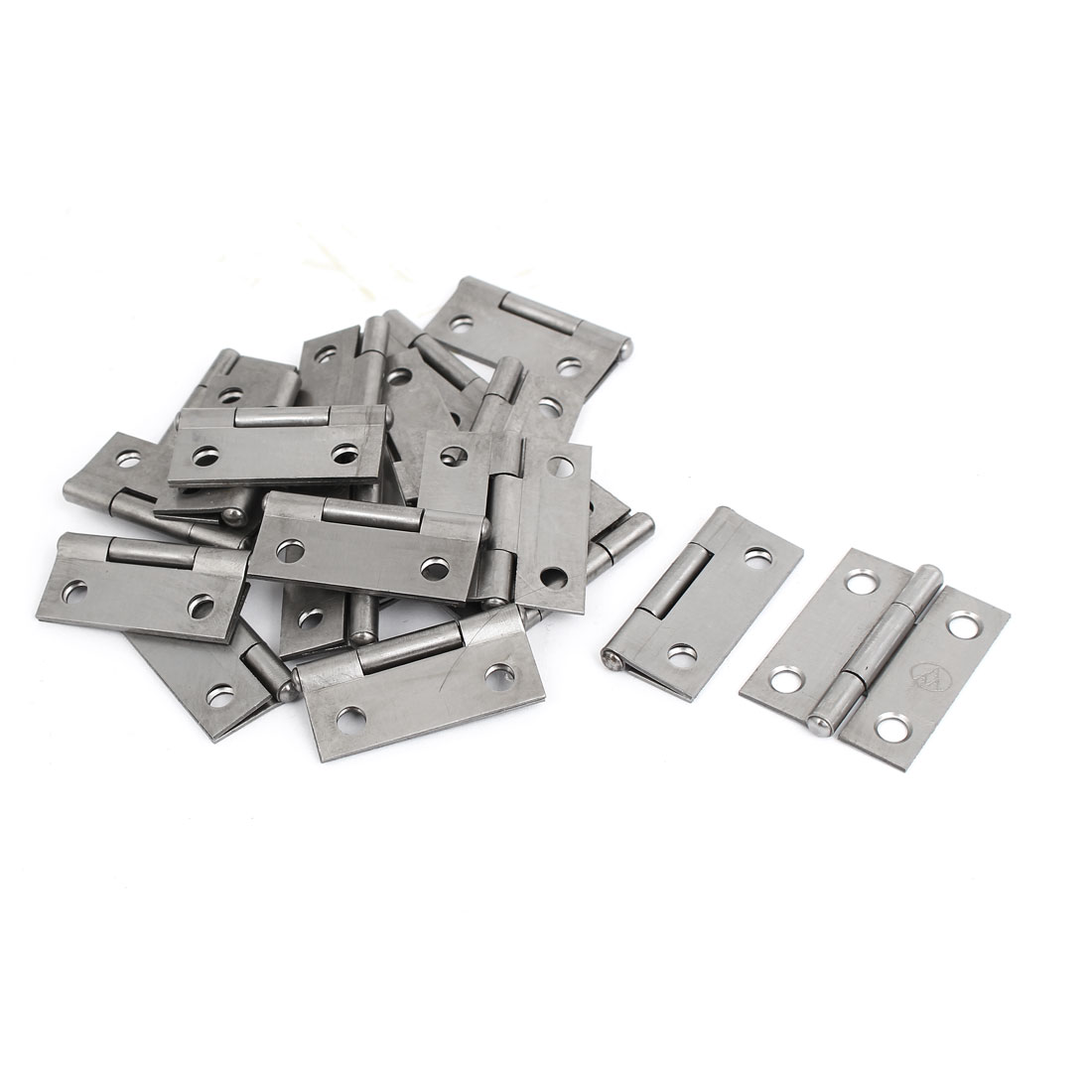 "Cupboard Showcase Door Toolbox Iron Butt Hinge Silver Gray 1.5"" Long 20pcs"