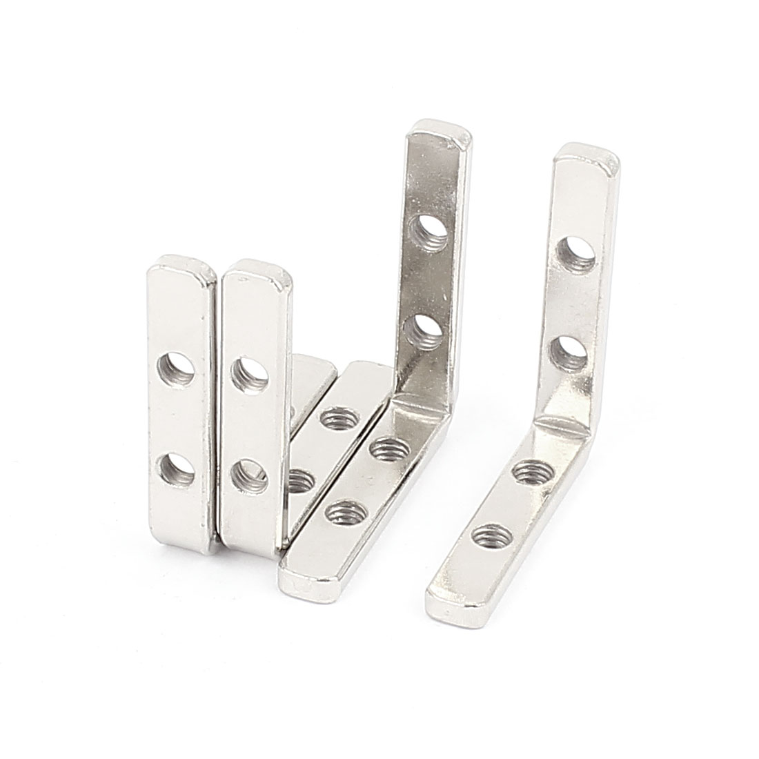 L Shape Shelf Support Corner Brace Joint Metal Angle Bracket 50mm x 50mm 4pcs