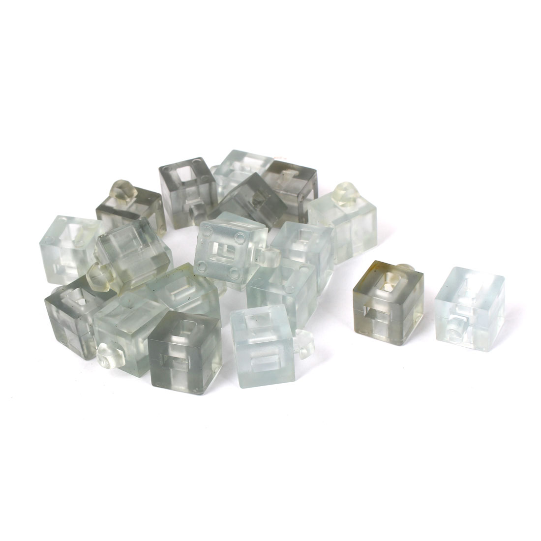 Aluminum Profile Glass Nylon Spacer Block Fastener Connector Clear 20pcs