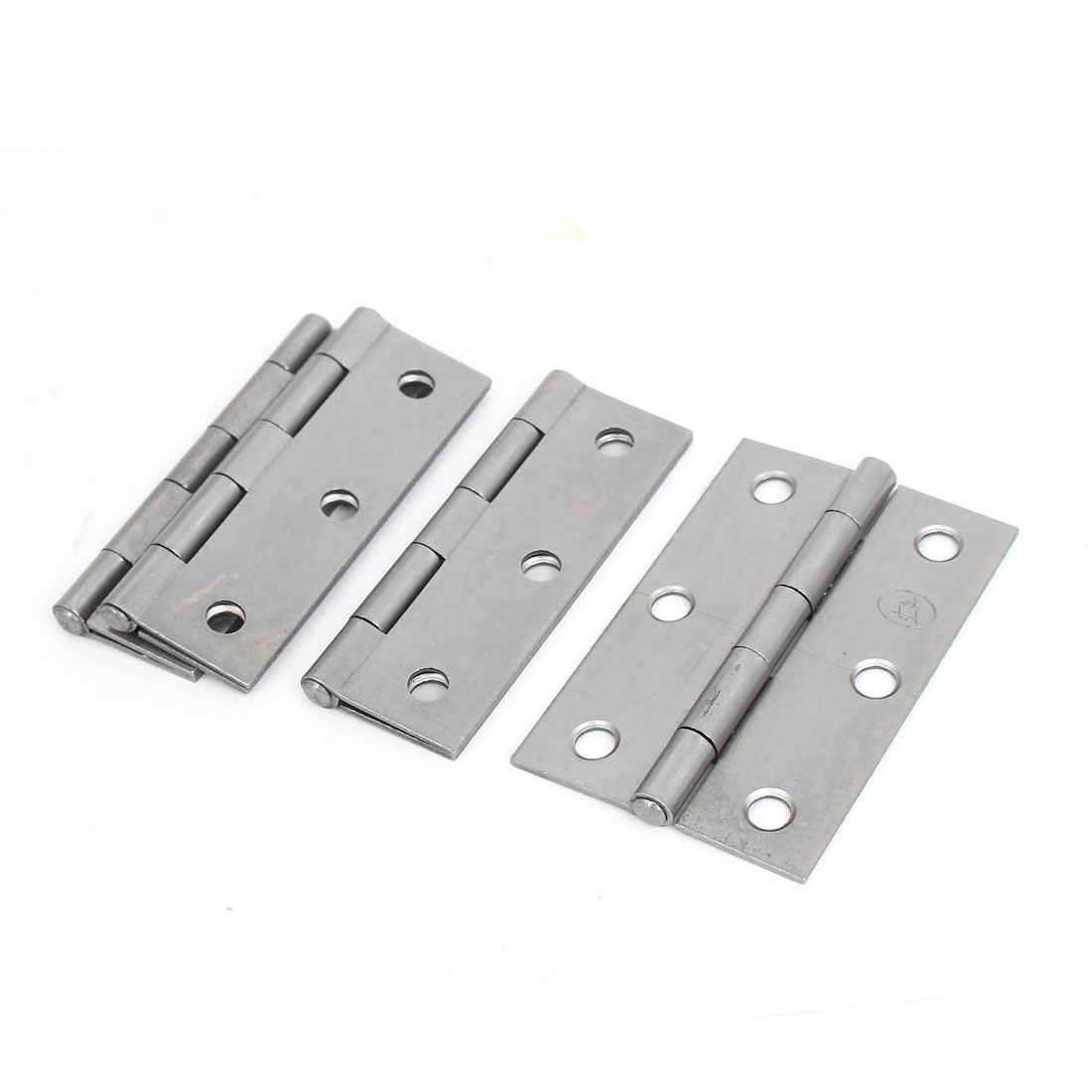 "Cabinet Drawer Foldable Iron Door Butt Hinge Silver Gray 3"" Length 4pcs"