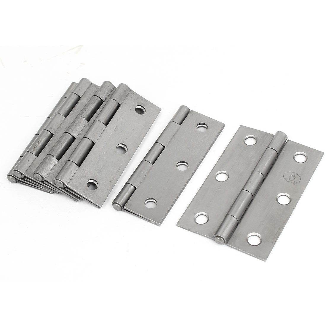 "Cabinet Drawer Foldable Iron Door Butt Hinge Silver Gray 3"" Length 6pcs"