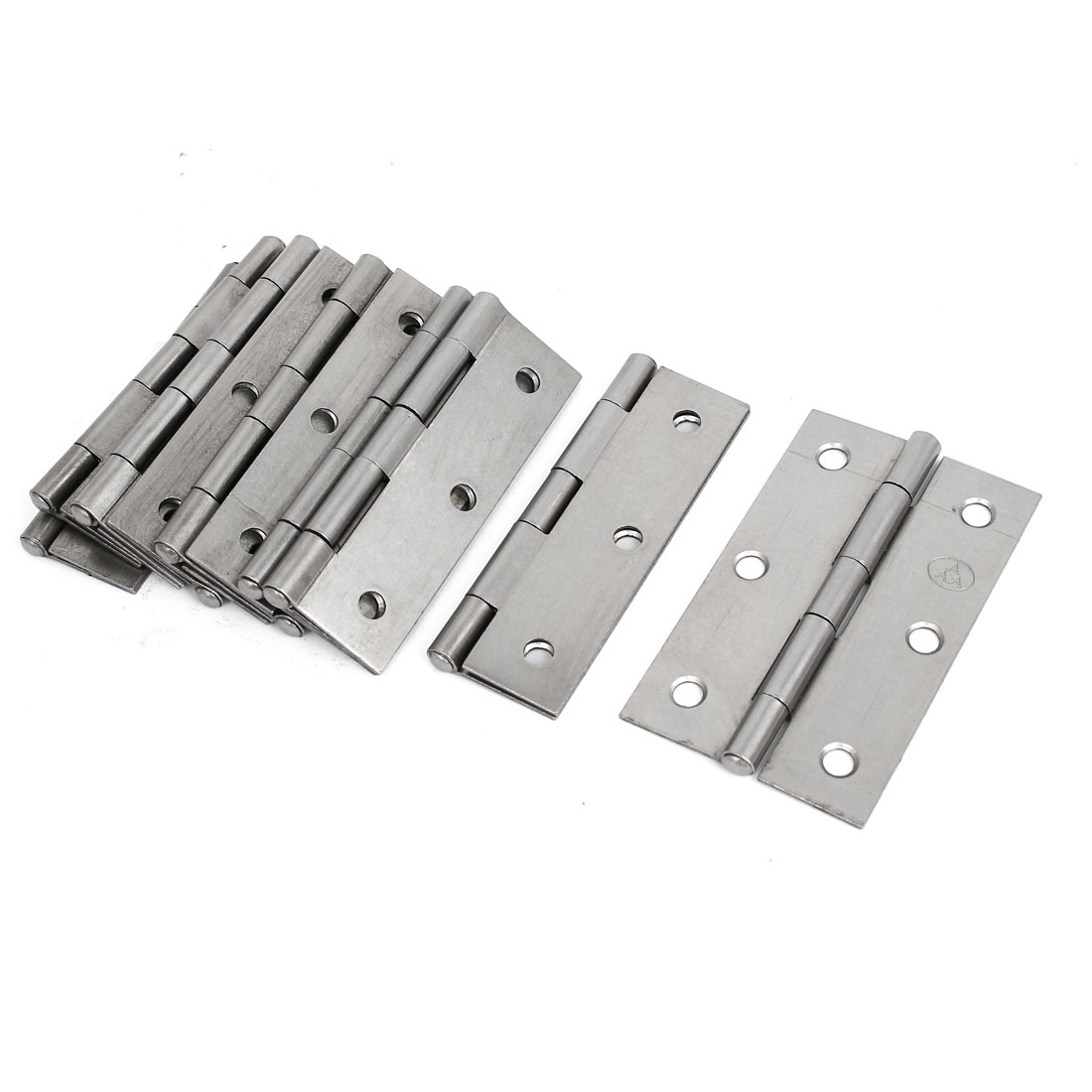 "Home Furniture Cupboard Door Iron Butt Hinge Silver Gray 3.5"" Long 10pcs"