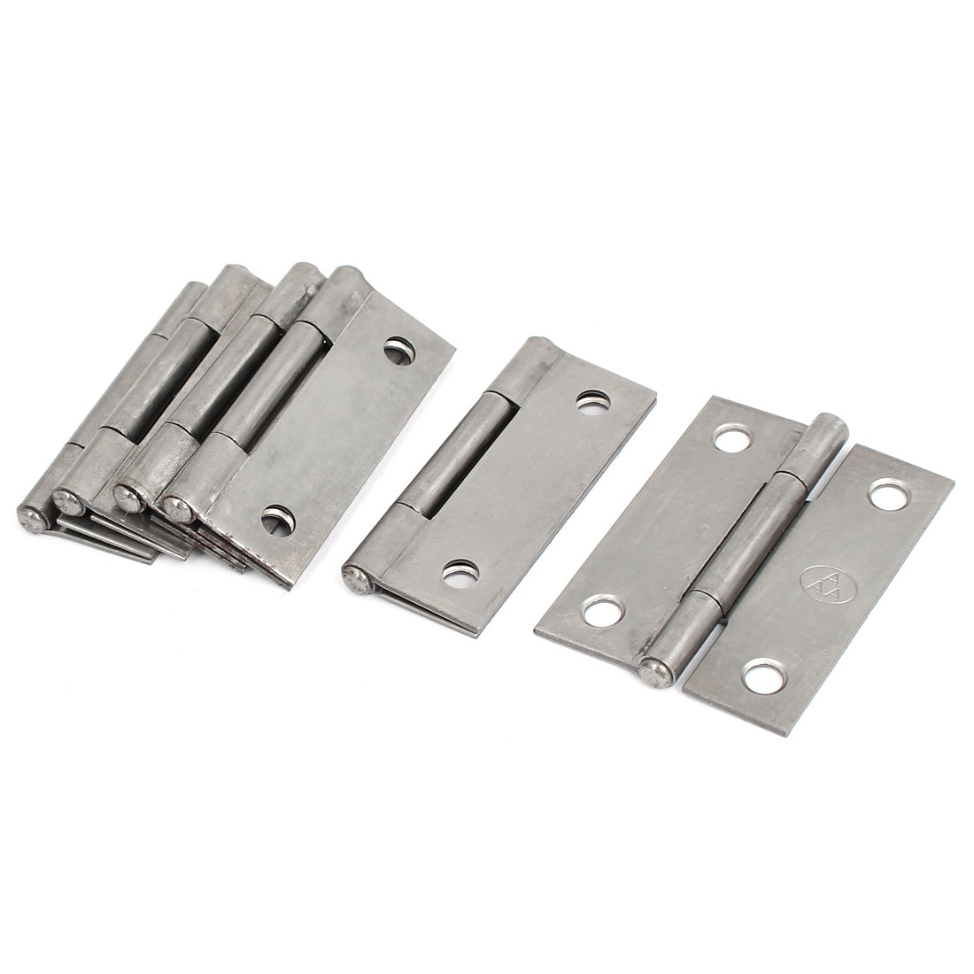 "Home Furniture Cabinet Door Iron Butt Hinge Silver Gray 2"" Long 6pcs"