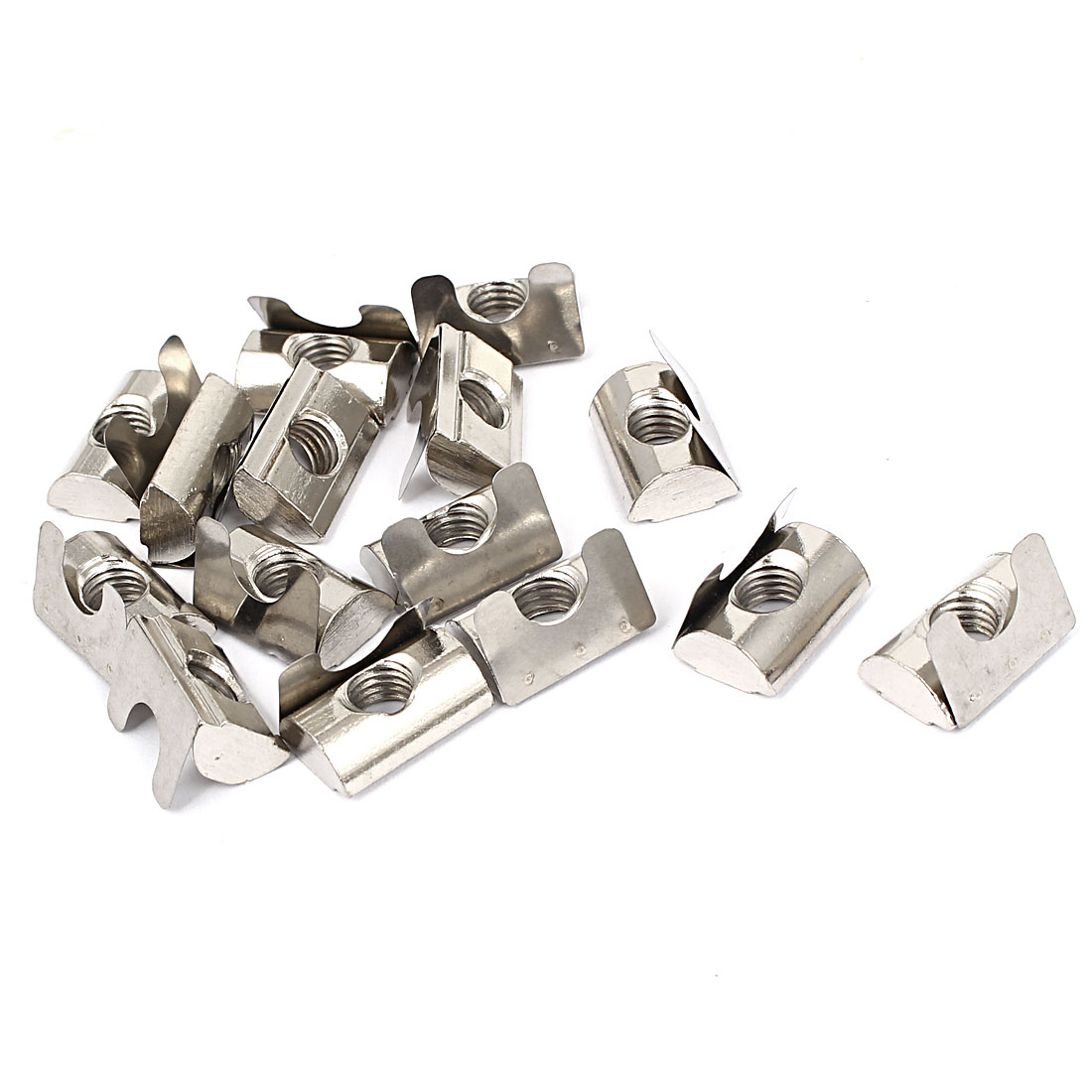 M8 Metal Spring Nuts T-Slot Frame Profile Extrusion 20mm Length 15pcs