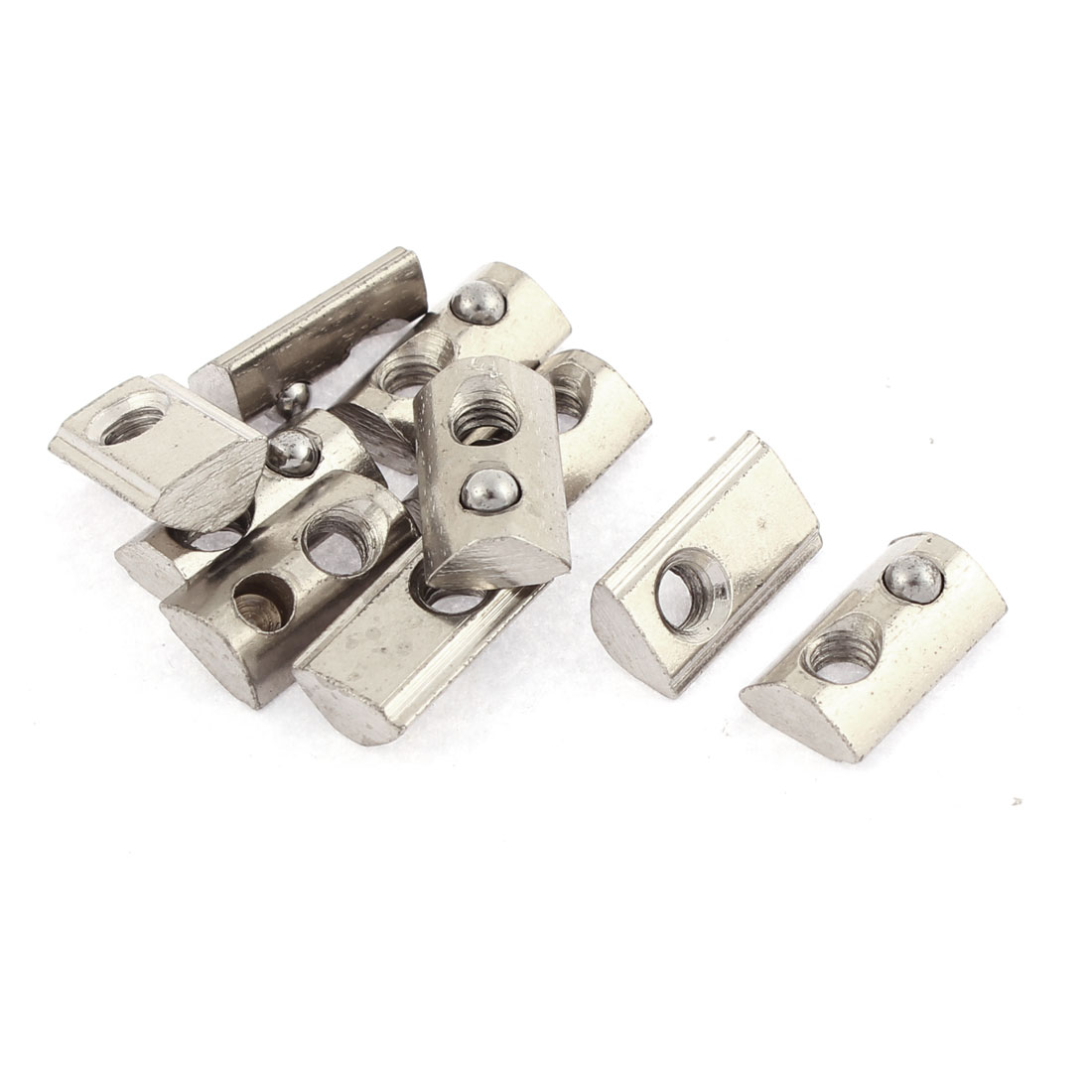 M4 Metal Half Round Roll in T-slot Ball Spring Nut Groove 10pcs
