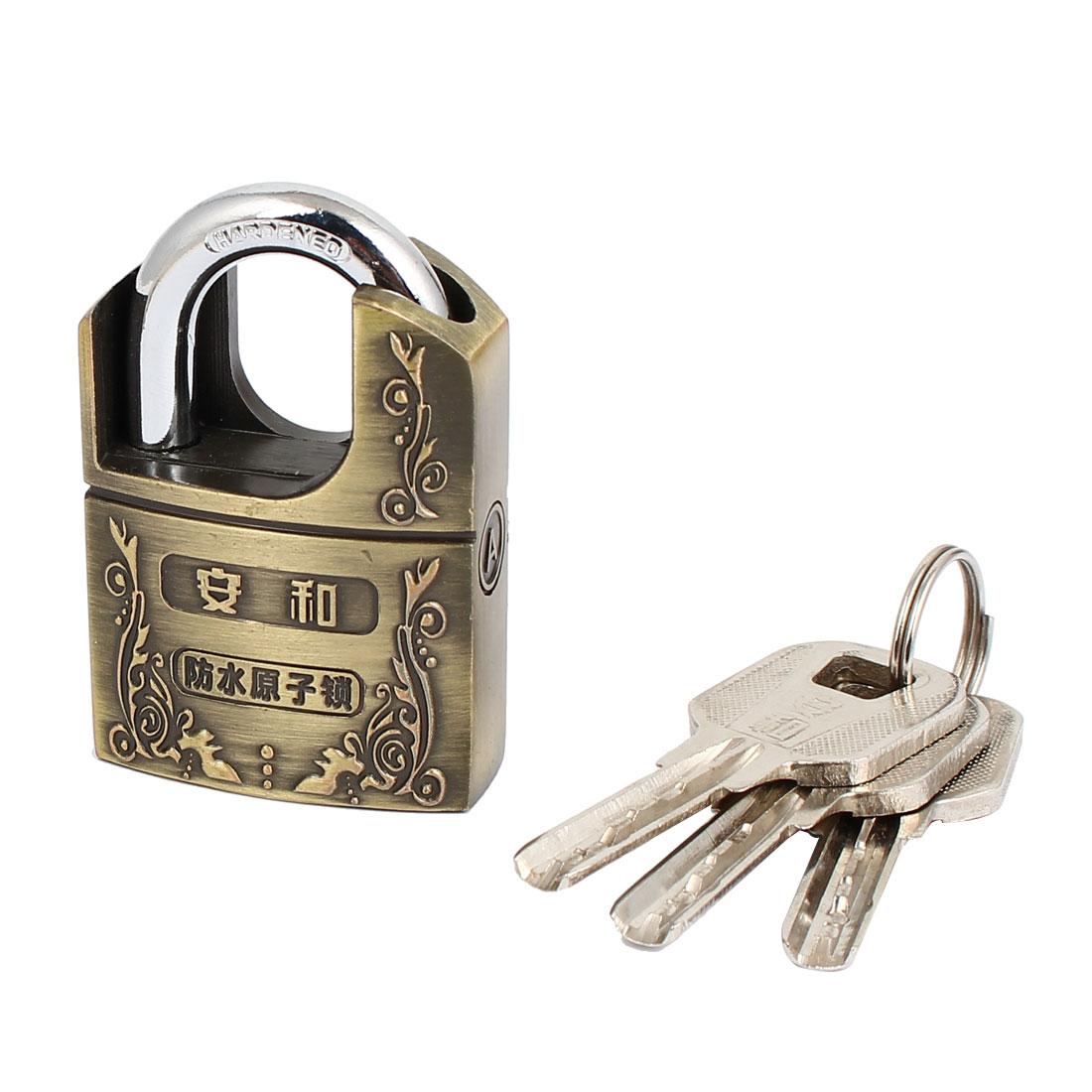 Dorm Garage Door Alloy Hardened Closed Shackle Security Padlock Lock 40mm Width w 3 Keys