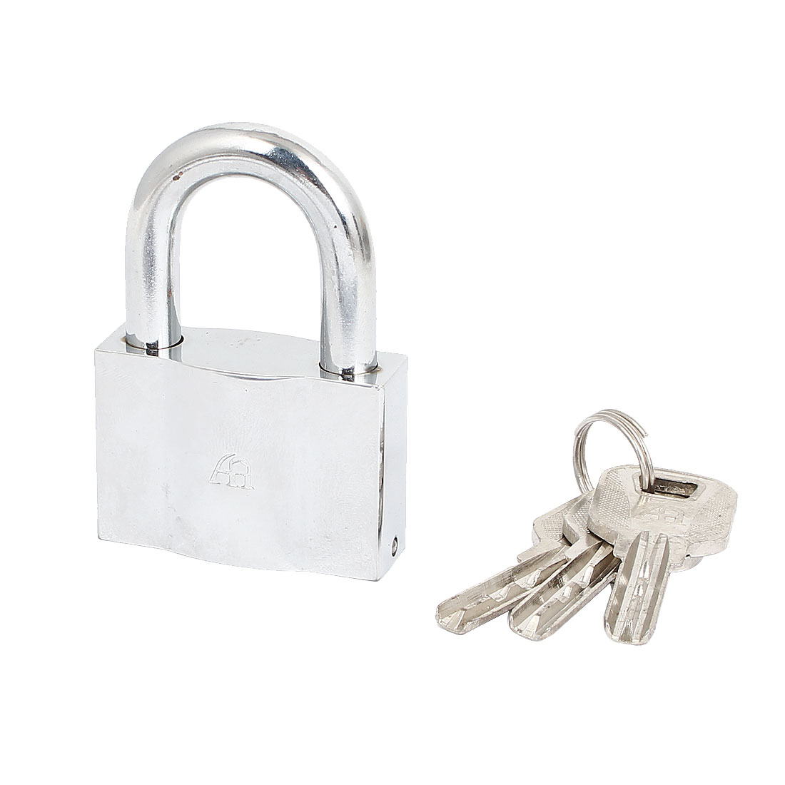 Cabinet Door Drawer Closet 50mm Width Security Locking Padlock Silver Tone w 3 Keys