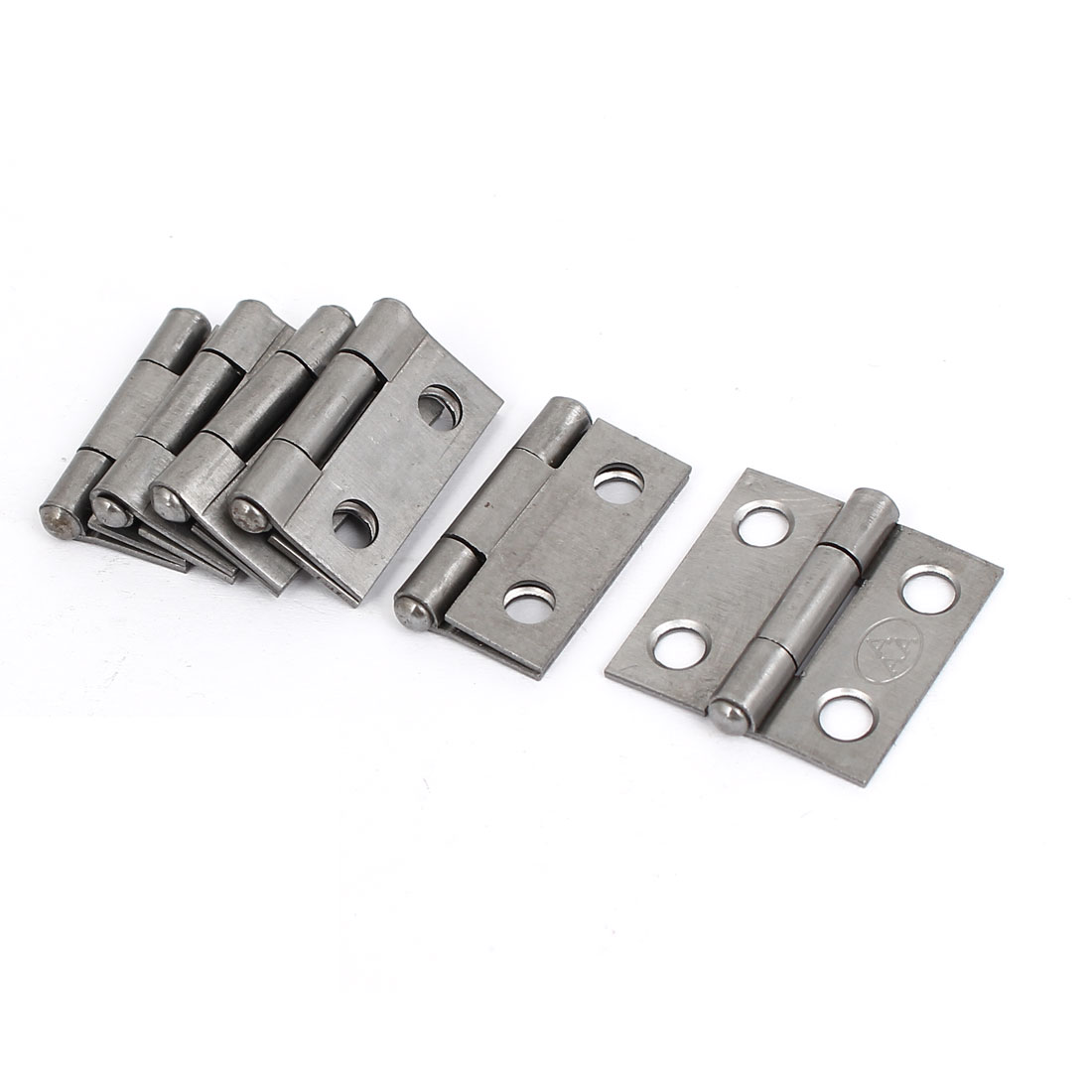 "Cupboard Cabinet Furniture Hardware Folding Door Butt Hinges Silver Gray 1"" Long 6pcs"