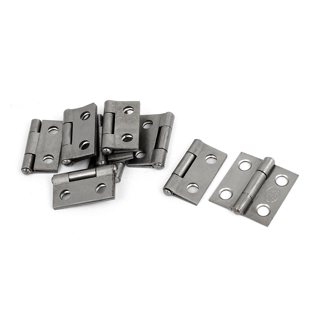 "Cupboard Cabinet Furniture Hardware Folding Door Butt Hinges Silver Gray 1"" Long 10pcs"