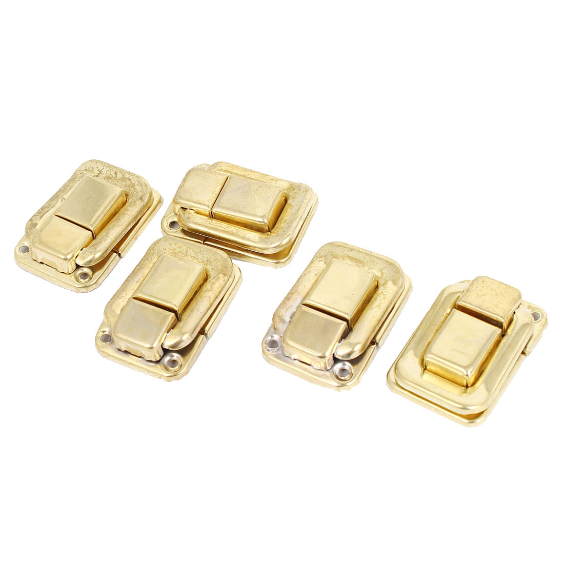 Drawer Case Fittings Hardware Toggle Latch Hasp Gold Tone 36mm Length 5pcs