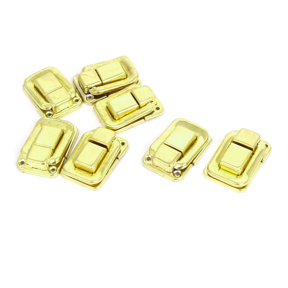 Drawer Case Fittings Hardware Toggle Latch Hasp Gold Tone 36mm Length 7pcs