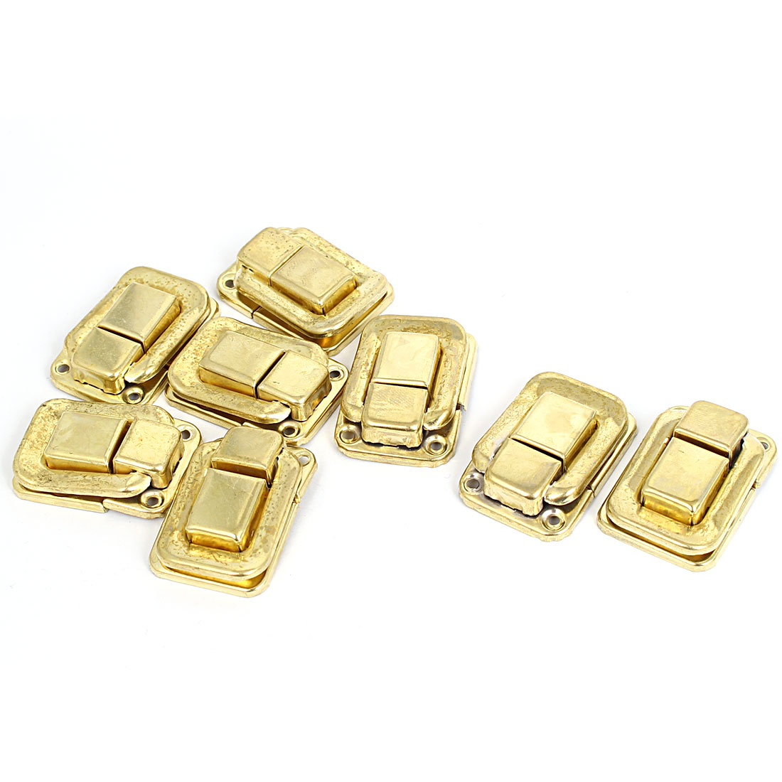 Drawer Case Fittings Hardware Toggle Latch Hasp Gold Tone 36mm Length 8pcs