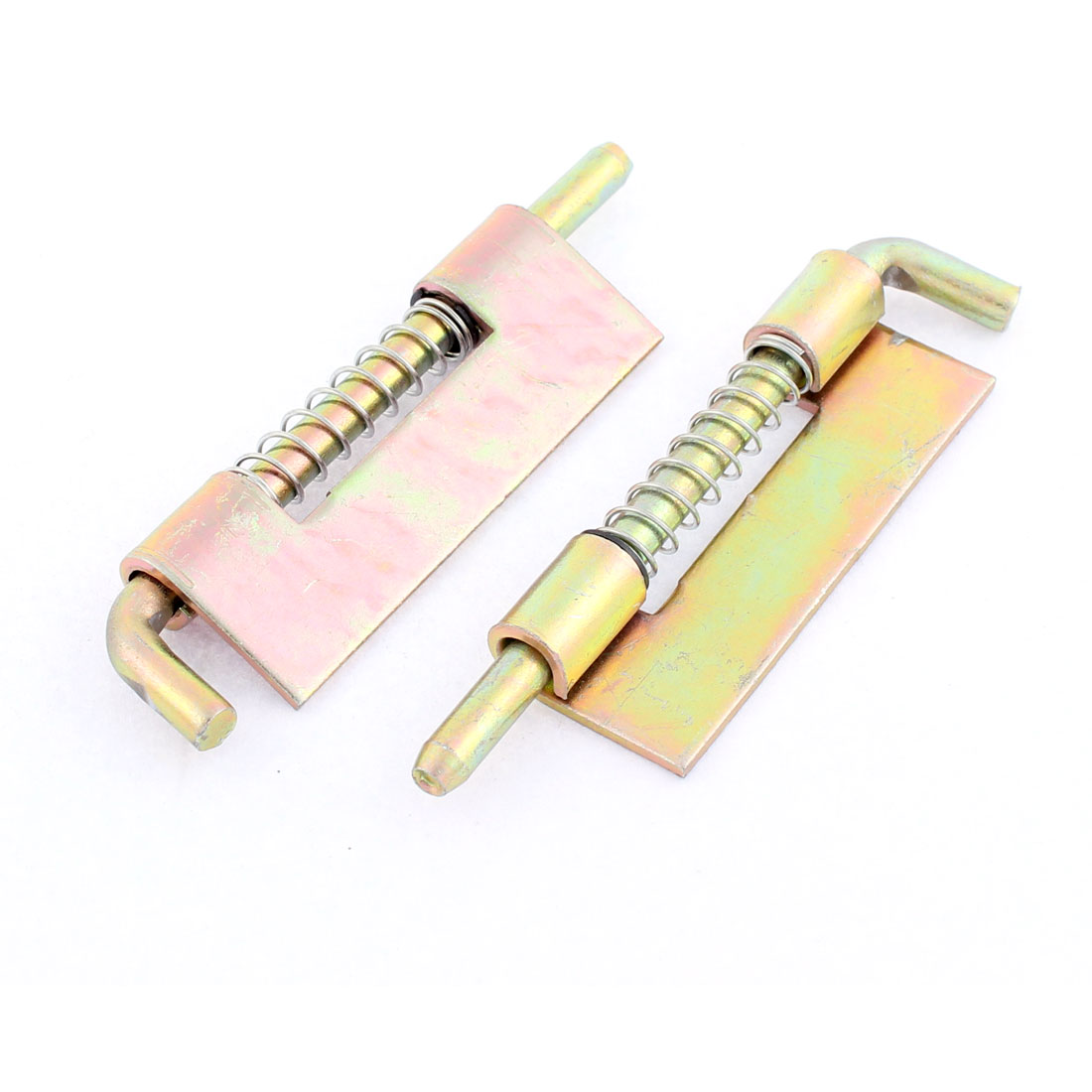 9cmx2cm Fixed Type Locked Spring Loaded Barrel Bolt Latch Bronze Tone 2pcs