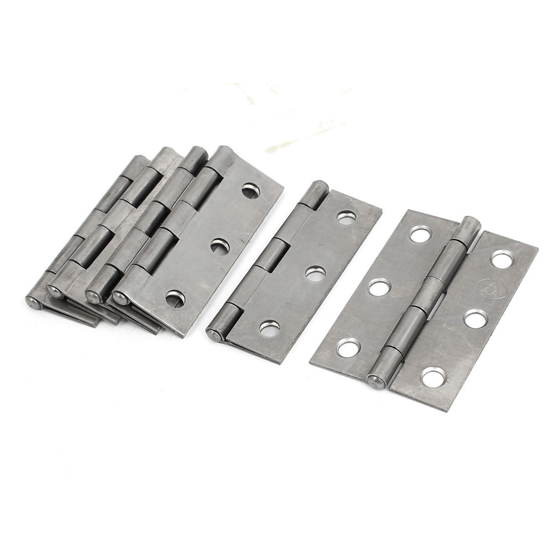 "Cupboard Closet Foldable Iron Door Butt Hinge Hardware Silver Gray 2.5"" Long 6pcs"