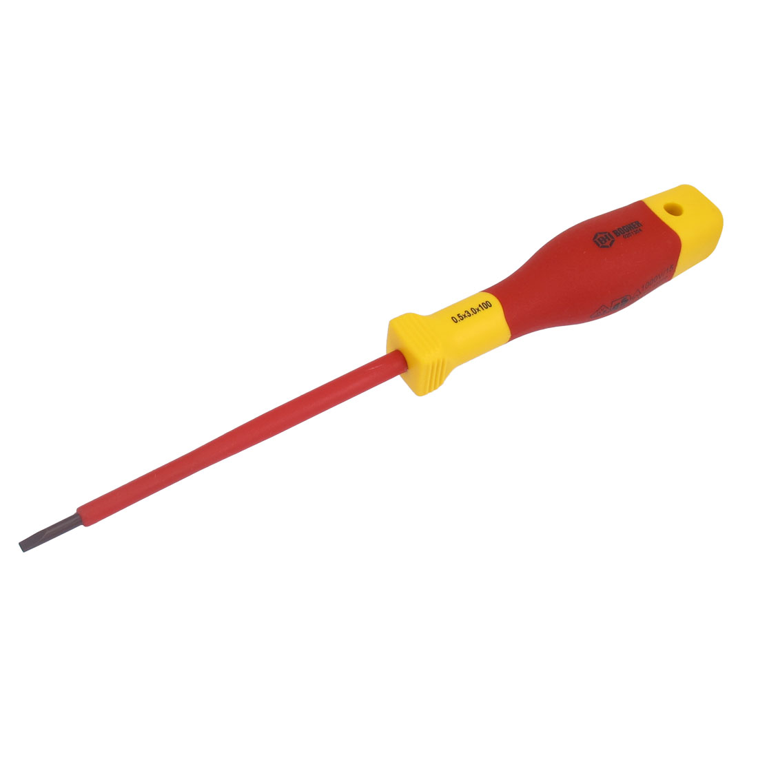 BOOHER Authorized 1000V 3mm Tip Width VDE Insulated Slotted Screwdriver