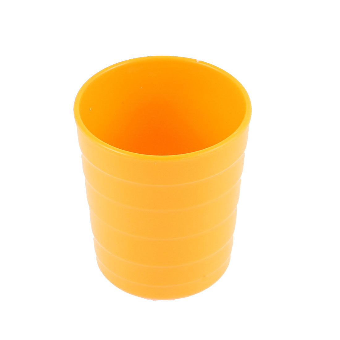 Restaurant Coffee Shop Plastic Cylinder Shaped Water Tea Drinking Cup Orange