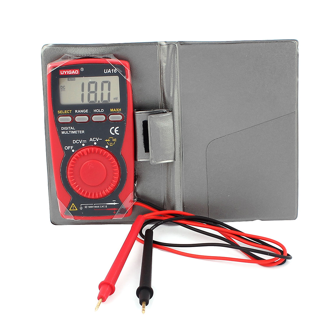 UYIGAO Authorized LCD Display AC DC Voltmeter Ohm Frequency Meter Ultra-Thin Digital Multimeter