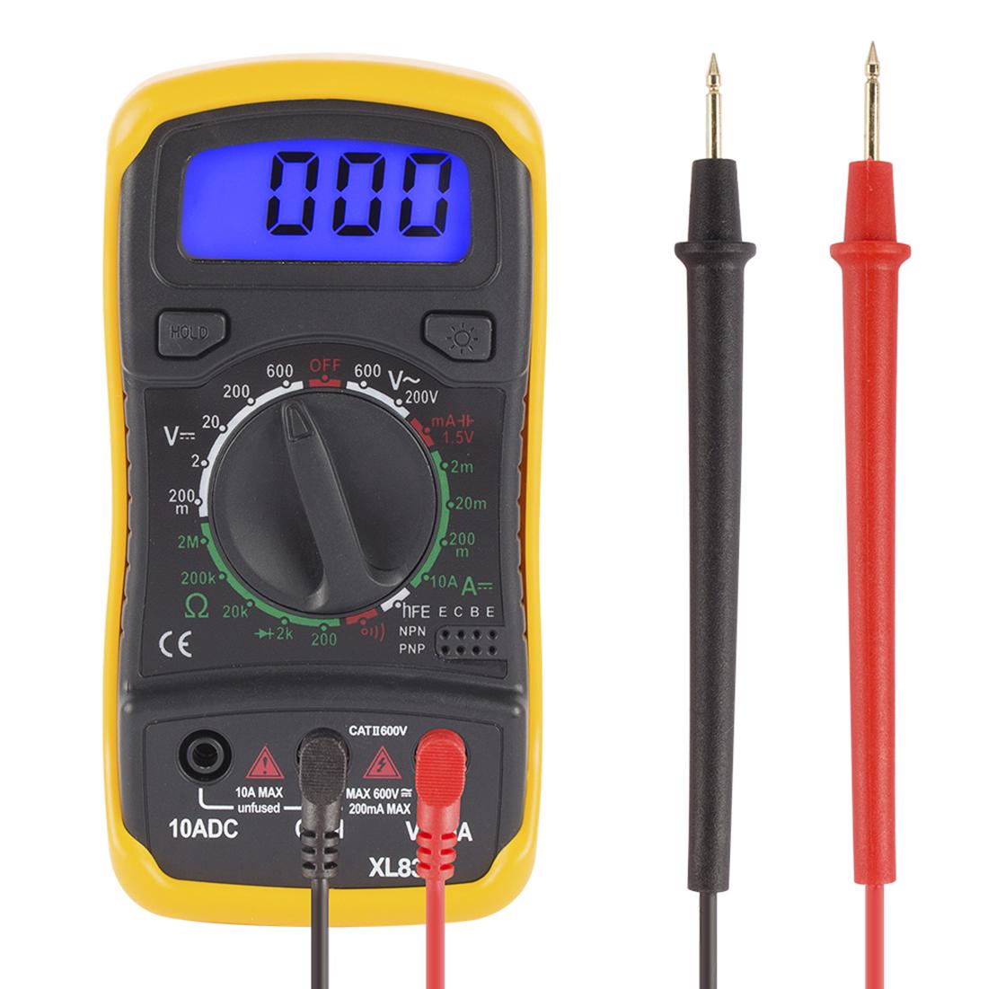 Digital Multimeter AC DC Voltmeter Ammeter Ohmmeter Diode Meter LCD Display
