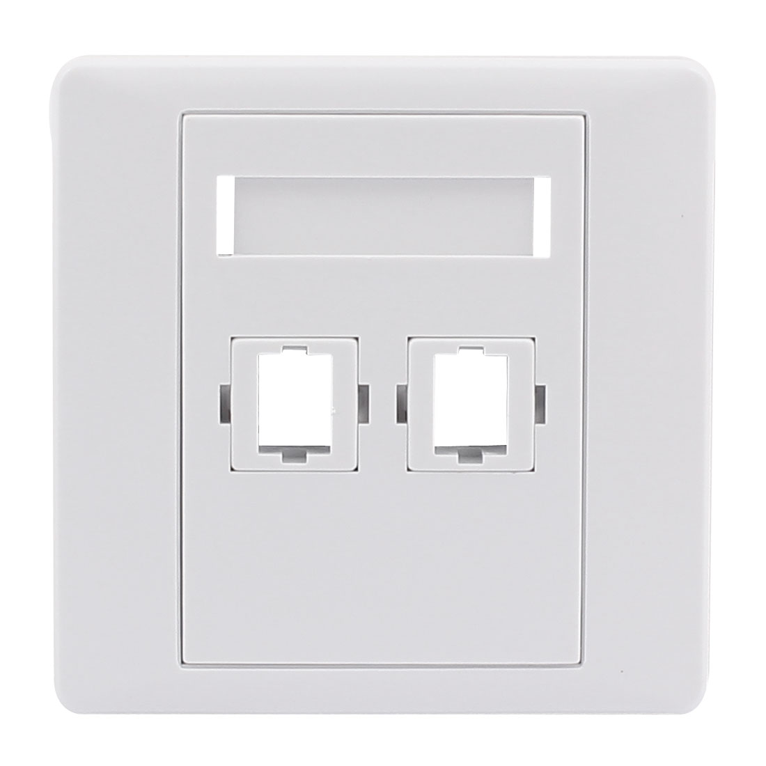 SC Fiber Optical Patch Cord Adapter Mount 2 Sockets Wall Plate Panel