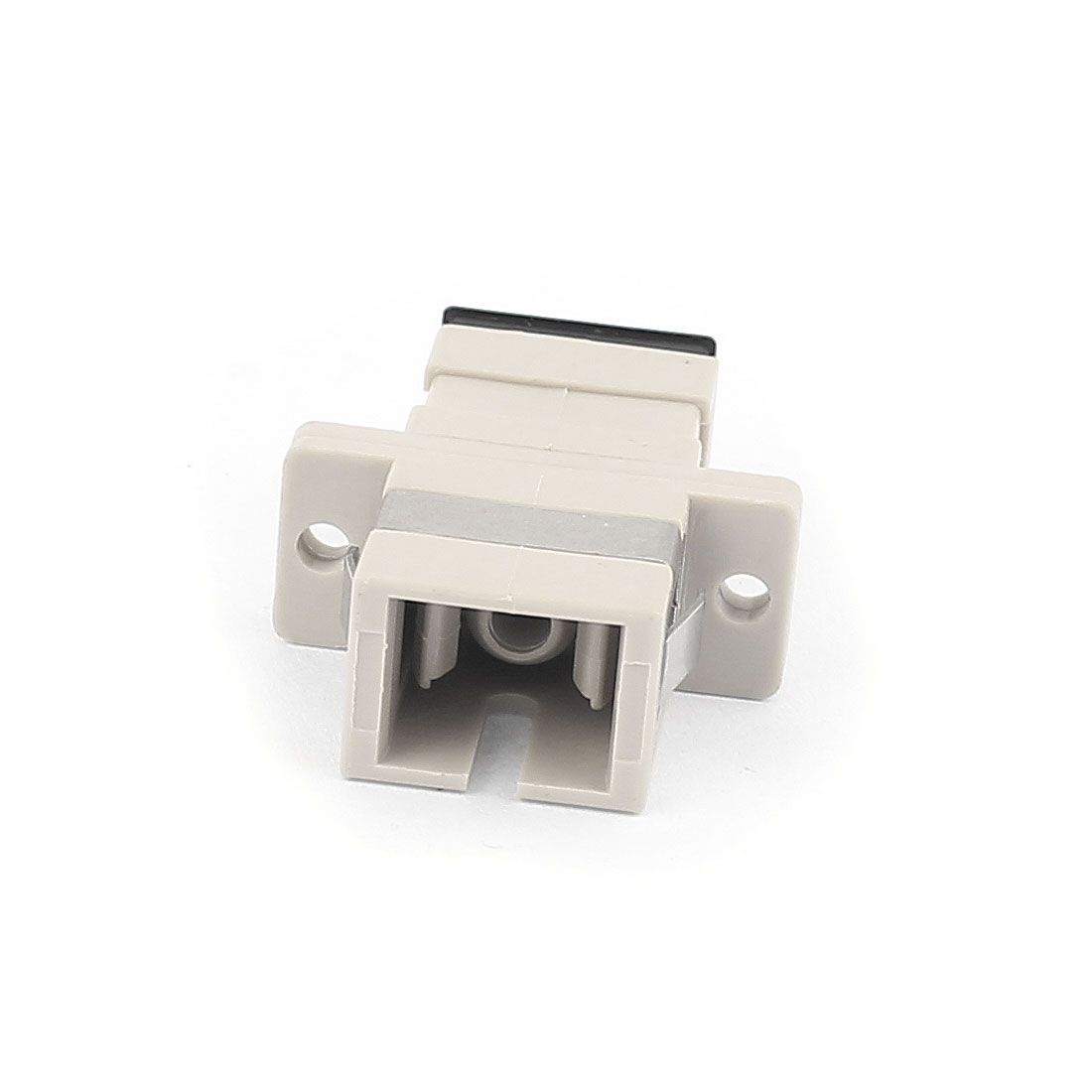 SC/SC Simplex MM SM Fiber Optical Flange Adapter Cable Connector Gray
