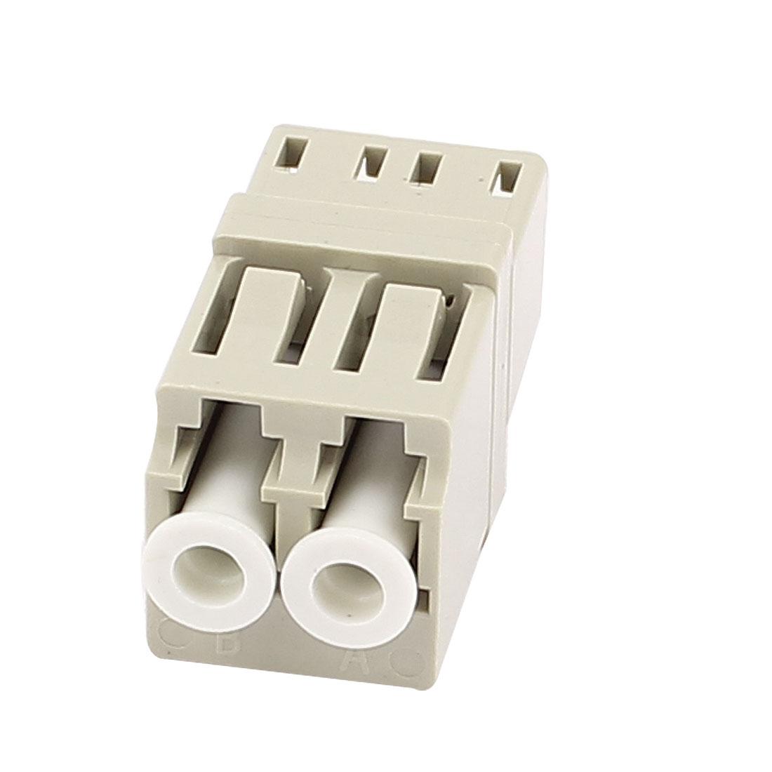 LC-LC Duplex Multimode Optical Duplexer Bare Fiber Optic Adapter