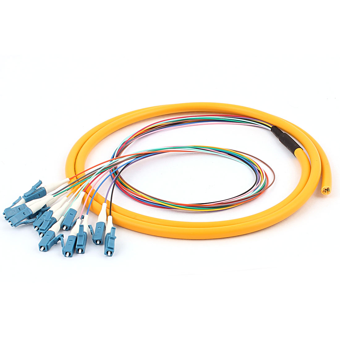 1.5M 4.9Ft Optic Pigtail SM Singlemode 12 LC/UPC Loose Fiber Cable