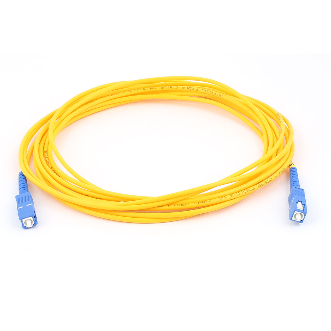 5M 9/125 Jumper Cable Simplex Singlemode SC-SC Fiber Optic Patch Cord