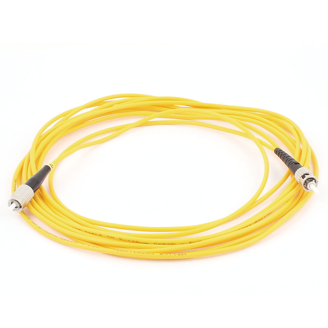 5M 9/125 Jumper Cable Simplex Singlemode FC-ST Fiber Optic Patch Cord