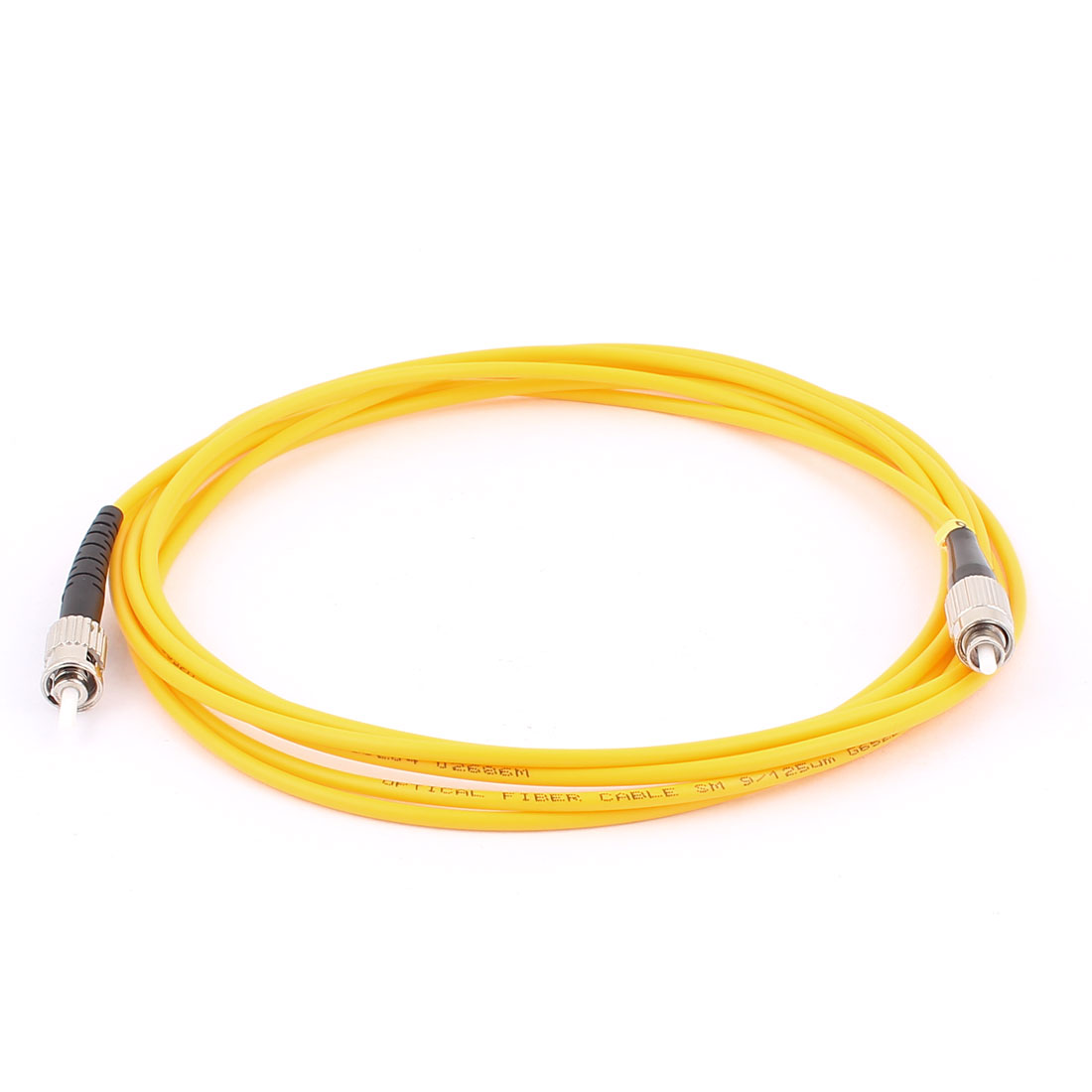 FC-ST 9/125 Simplex Singlemode Optic Fiber Optical Cable Yellow 3.0M