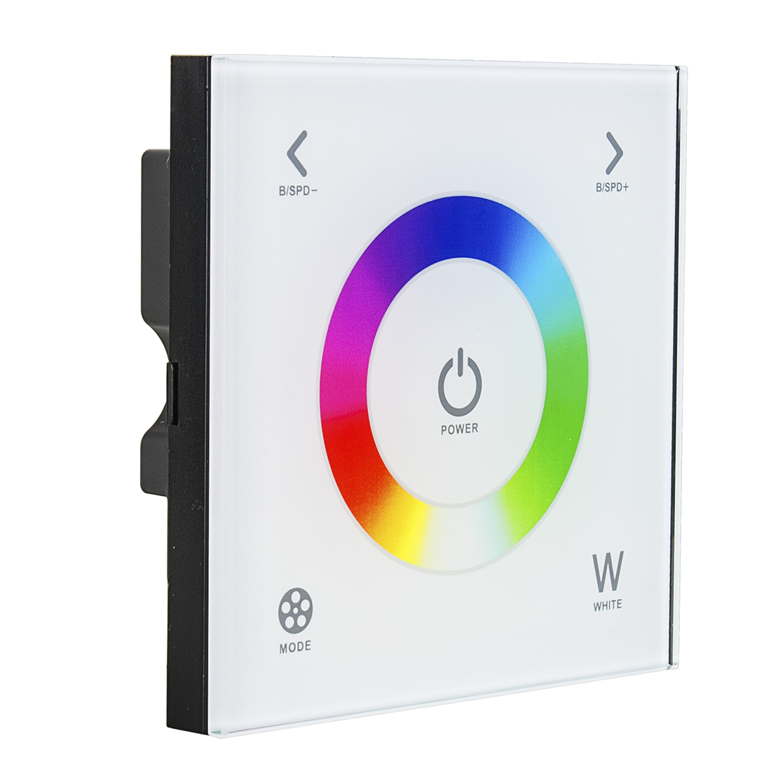 Wall Mount DC12-24V Touch Panel Full Color Dimmer Controller for RGBW LED Strip Lighting 16A 192W 384W 5 Year Warranty