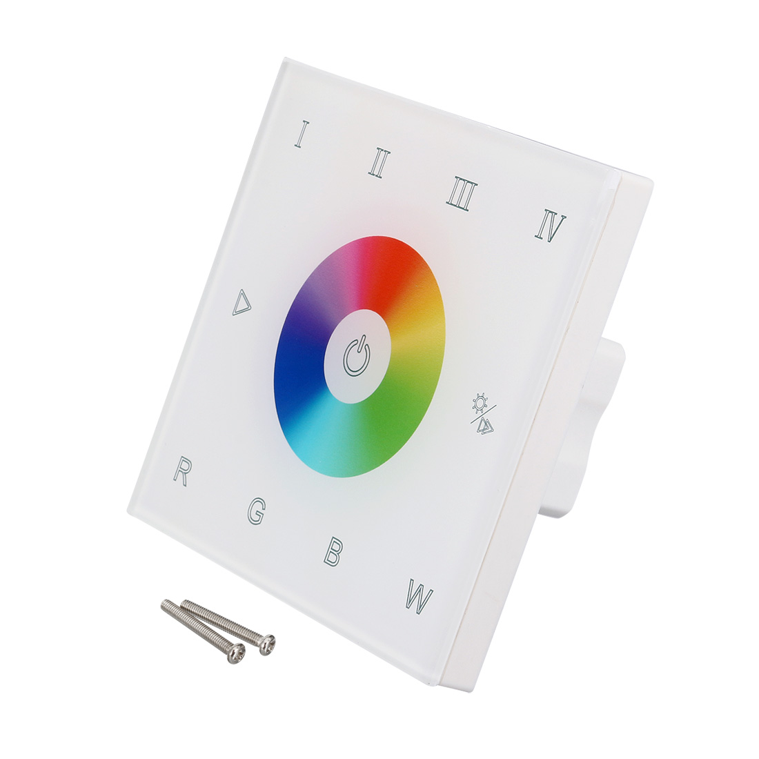 Wall Mount DC12-24V Touch Panel Full Color Controller for RGBW DMX LED Strip Lighting 16A 192W 384W 4 Zones