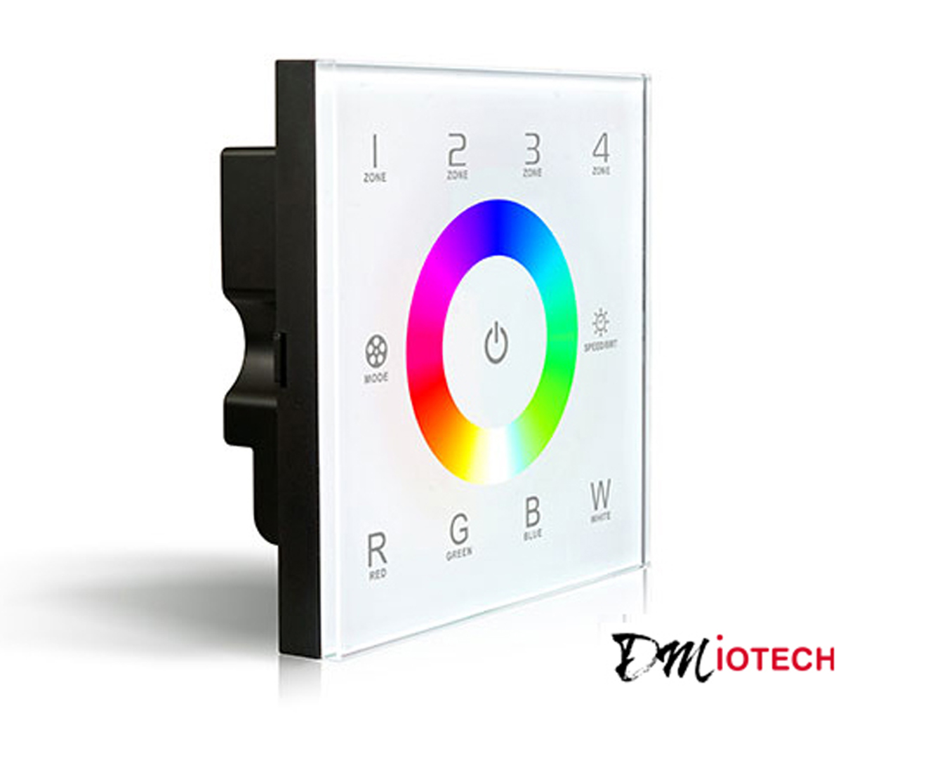 Wall Mount AC100V-240V Full Color Touch Panel RF Controller for LED Lighting 4 Zones