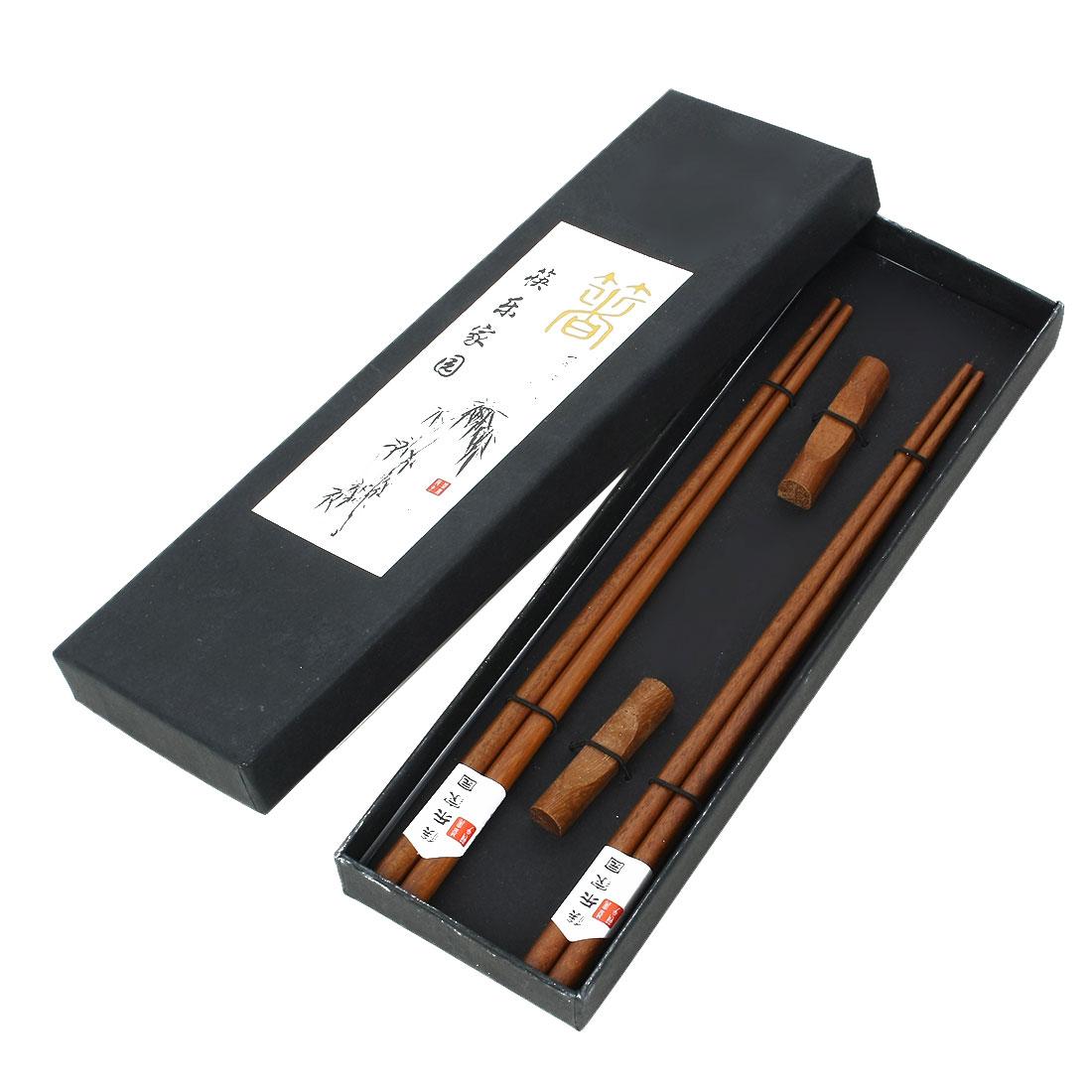 Casa-J Bamboo Traditional Chopsticks 2 Pairs Brown