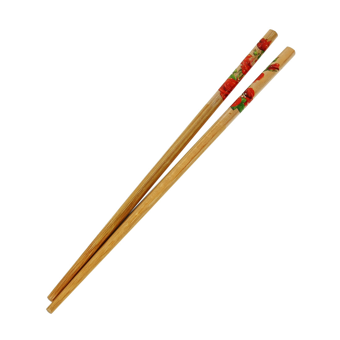 Casa-J Bamboo Rose Print Kitchen Eco-friendly Dinner Chopsticks Pair