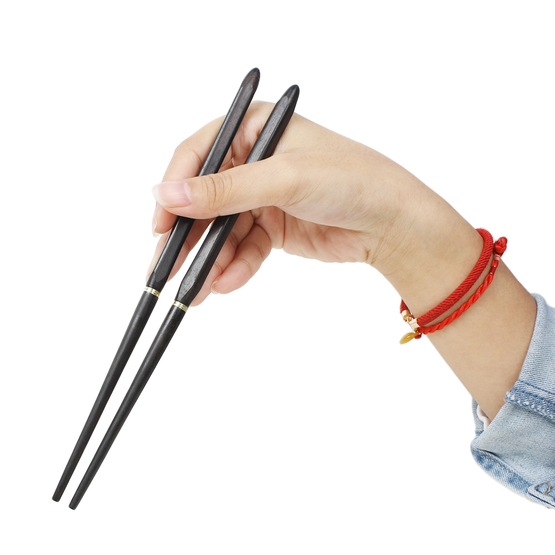Casa-J Kitchen Portable Foldable Chopsticks Pair Black