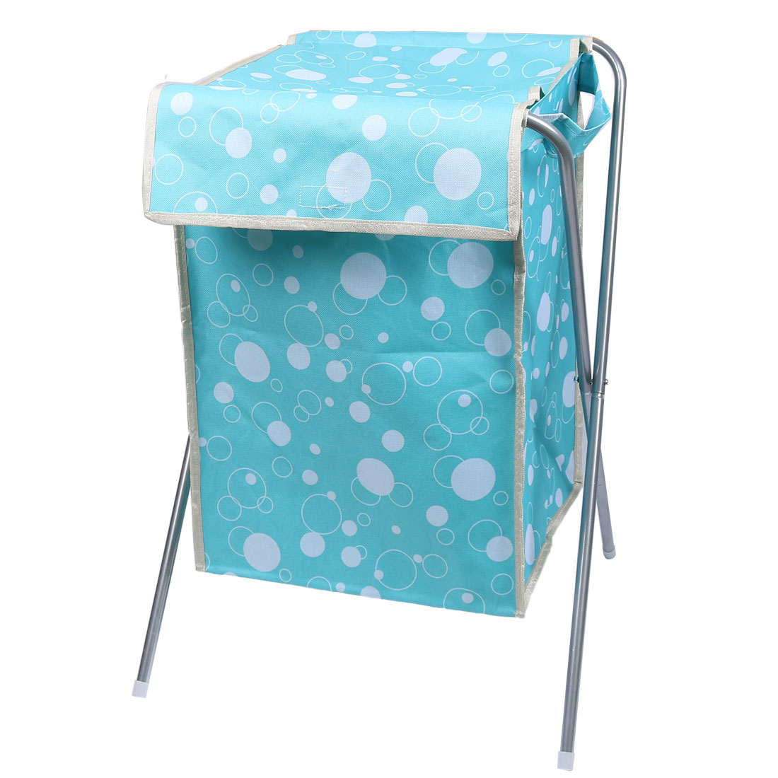 Folding Storage Bin Dirty Clothes Washing Laundry Basket Hamper Sky Blue