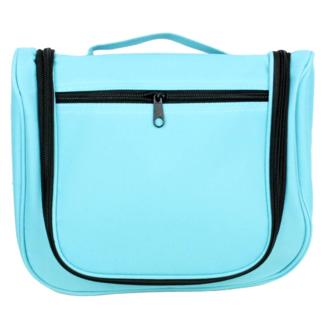 Outdoor Travel Nylon Makeup Carrying Storage Organizer Wash Bag Blue