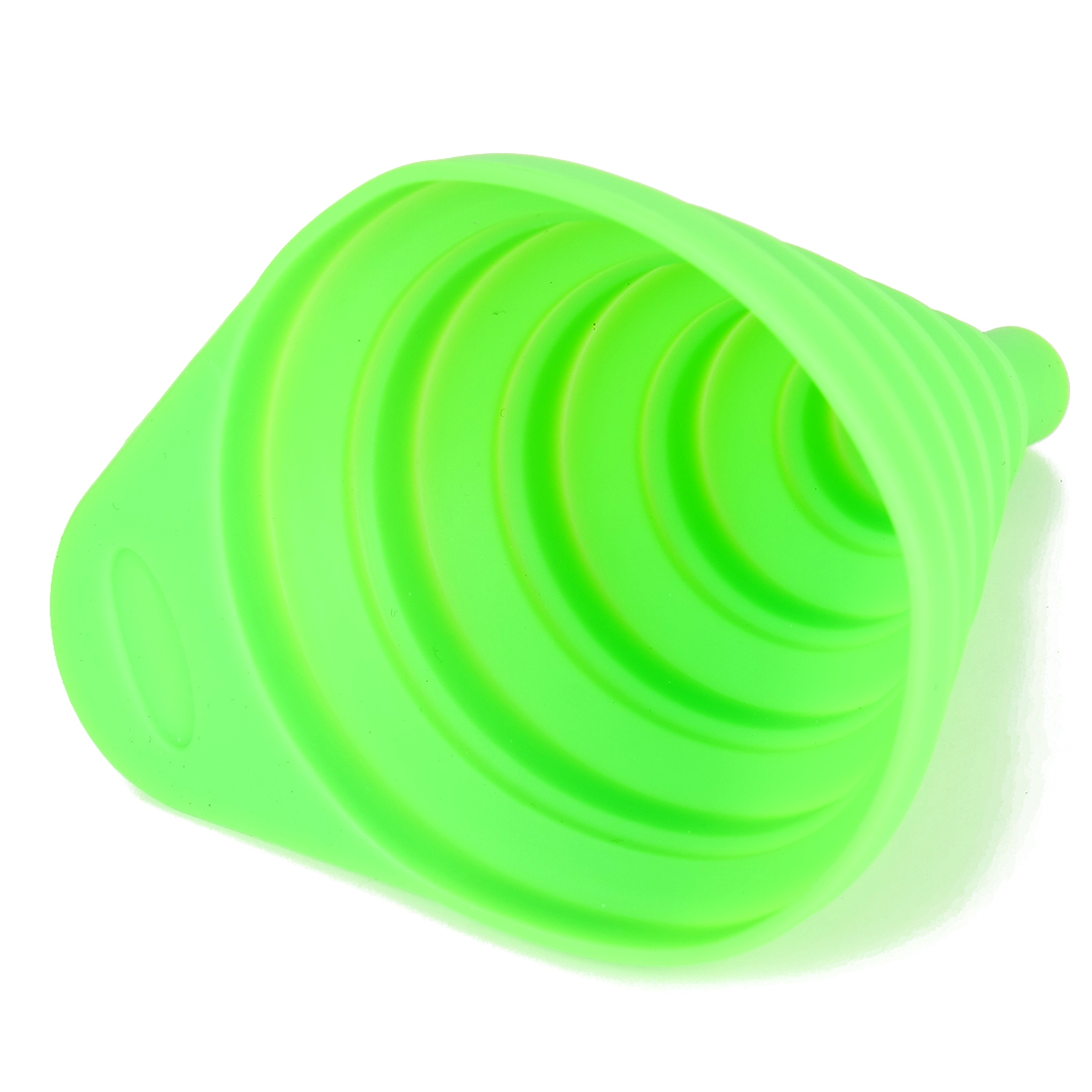 Kitchen Silicone Foldable Collapsible Filter Funnel for Liquid Green