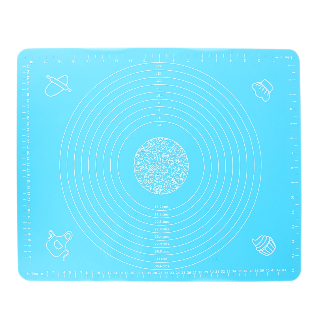 Square Silicone Anti Slip Heat Resistant Table Cup Pad Placemat Coaster Blue