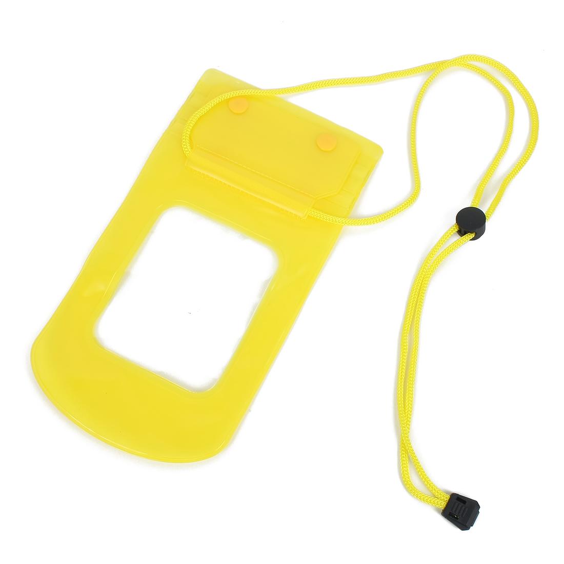 Plastic Flexible Waterproof Bag for Mobile Bright Yellow