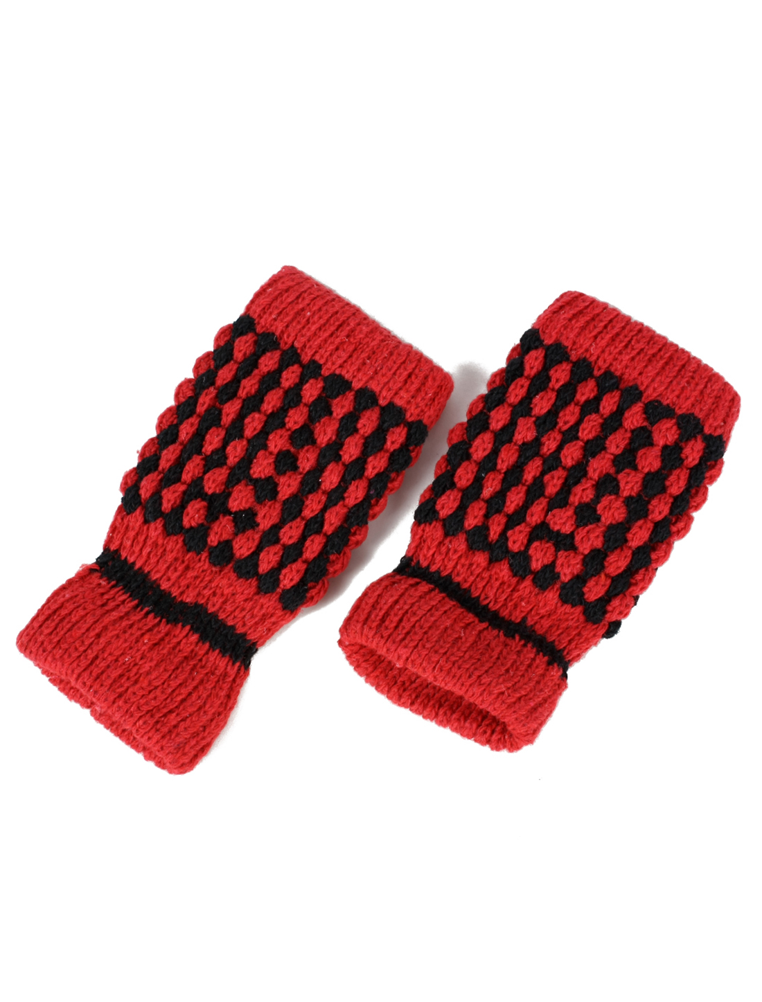 Pair Ladies Hand Knitted Chunky hand warmers Fingerless Gloves