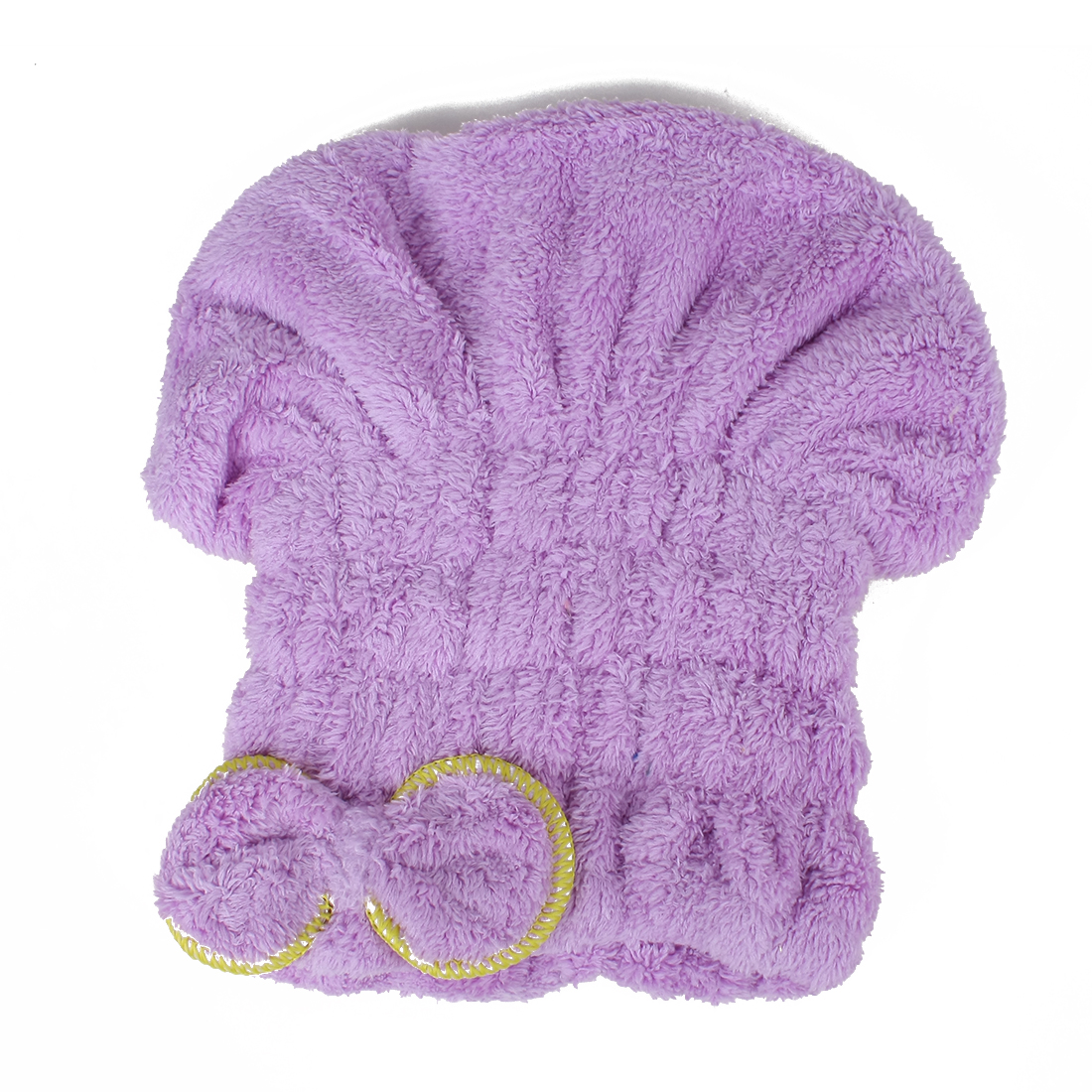 Women Bowknot Towel Hair Drying Cap Head Wrap Quick Dry Bath Hat Purple