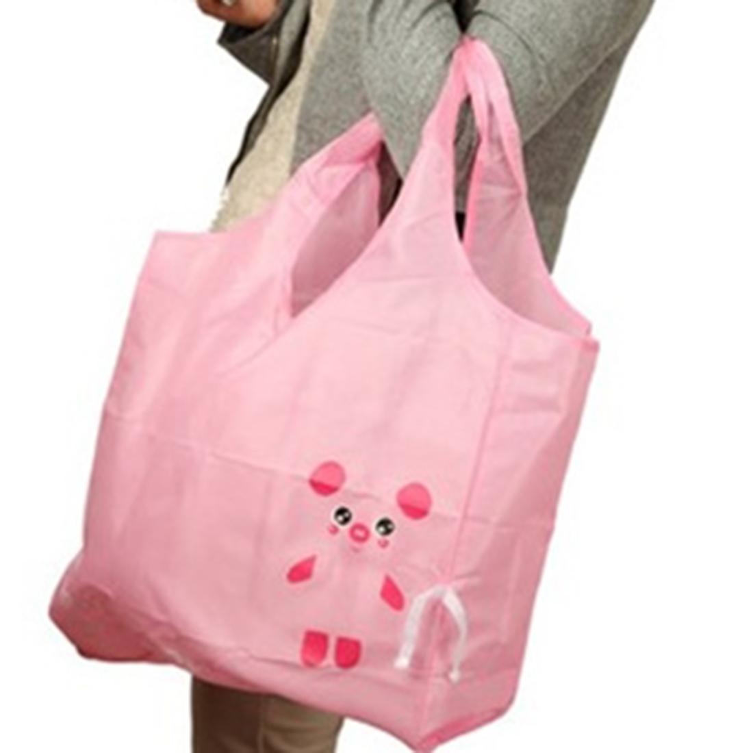 Cartoon style folding portable shop bags Shopping Totes Bag