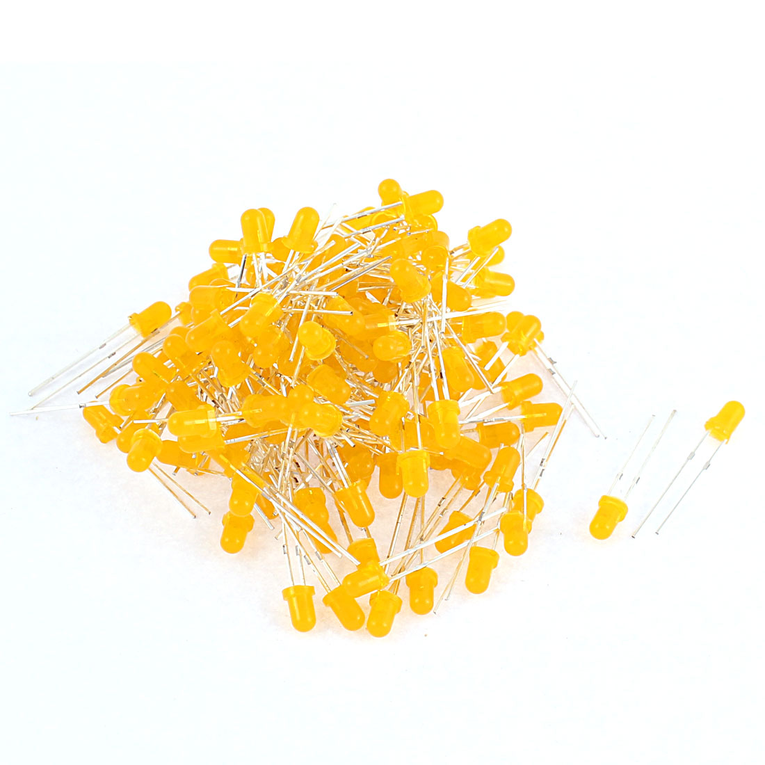 150pcs 3mm Round Top Yellow Color LED Light Emitting Diode Bulb Beads
