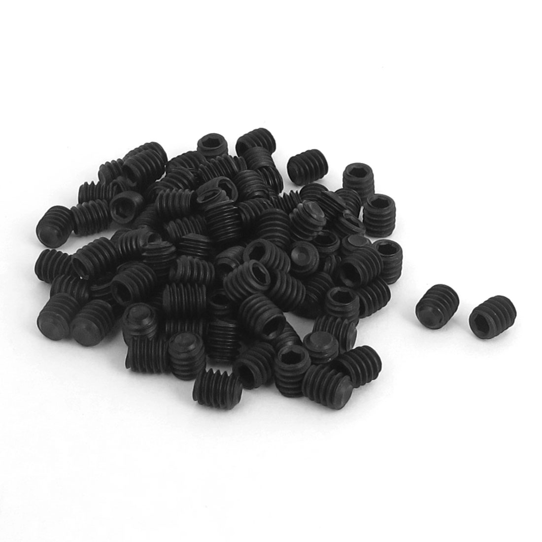 "8#-32x3/16"" 12.9 Alloy Steel Hex Socket Set Cap Point Grub Screws Black 100pcs"