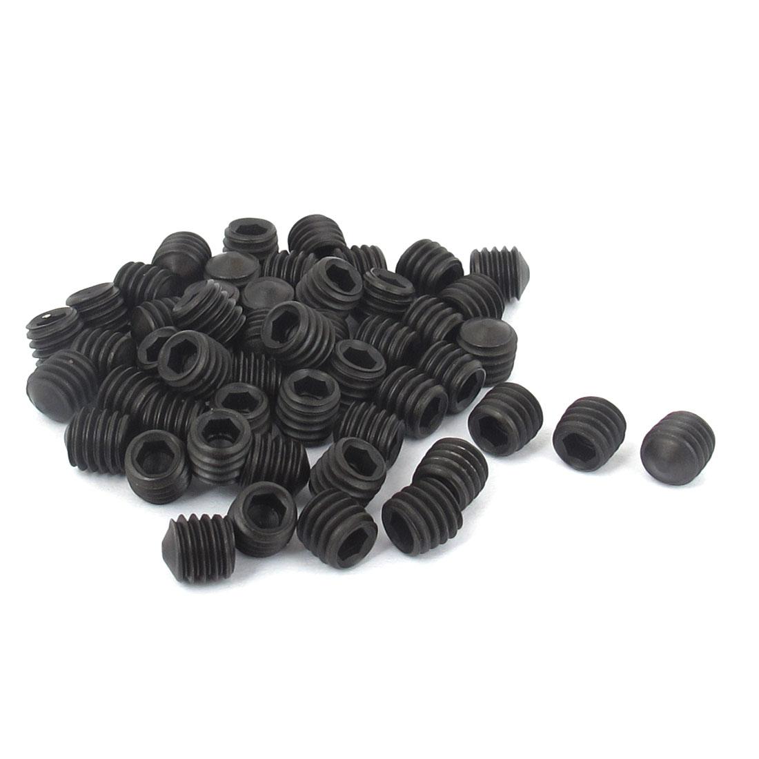 M6x6mm 12.9 Alloy Steel Hex Socket Set Cone Point Grub Screws 50pcs