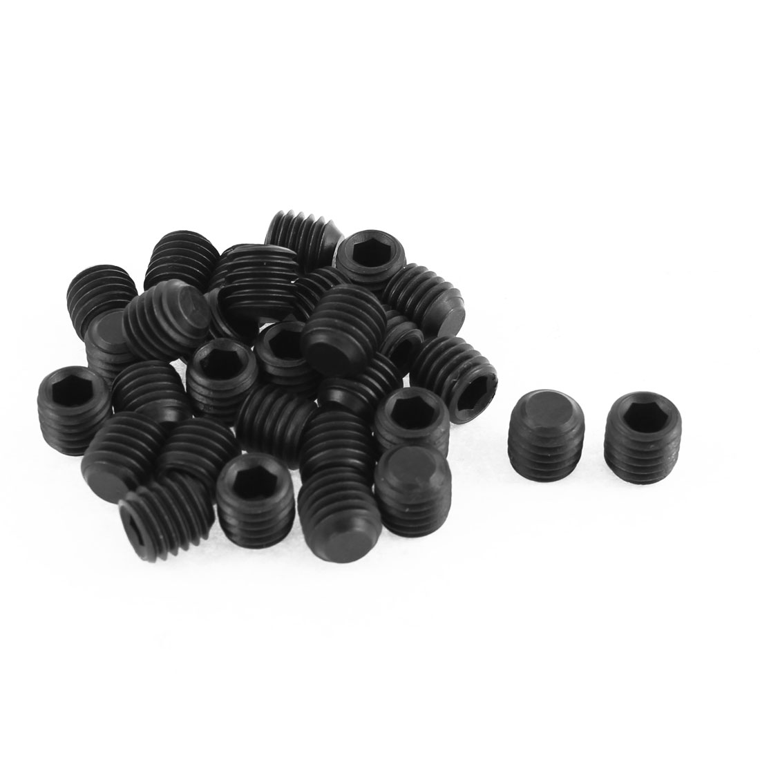 M10x1.5mm Pitch 12.9 Alloy Steel Hex Socket Set Cap Point Grub Screws Black 30pcs