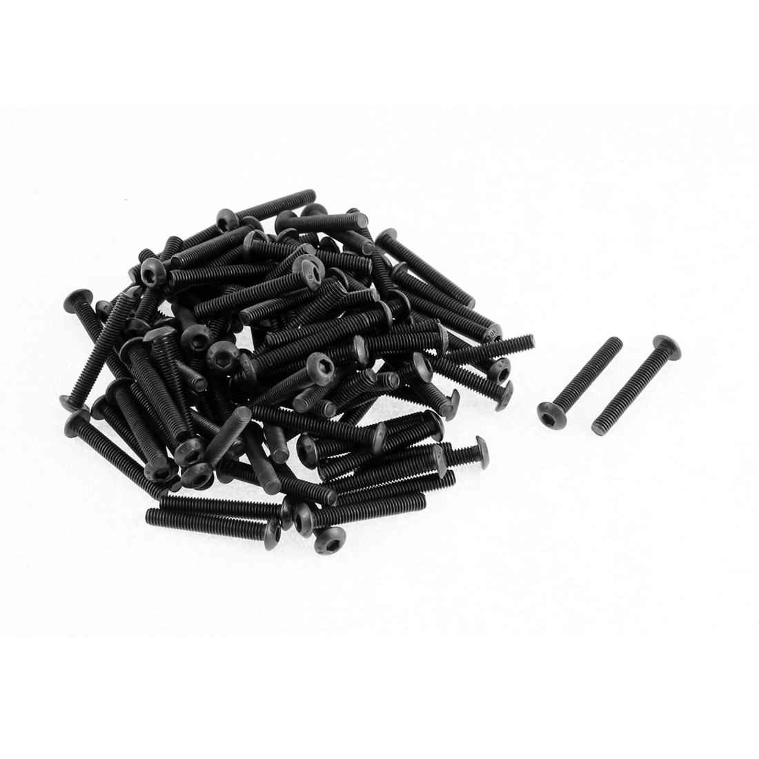 M3x20mm Thread 10.9 Alloy Steel Button Head Hex Socket Cap Screw Bolt 100pcs