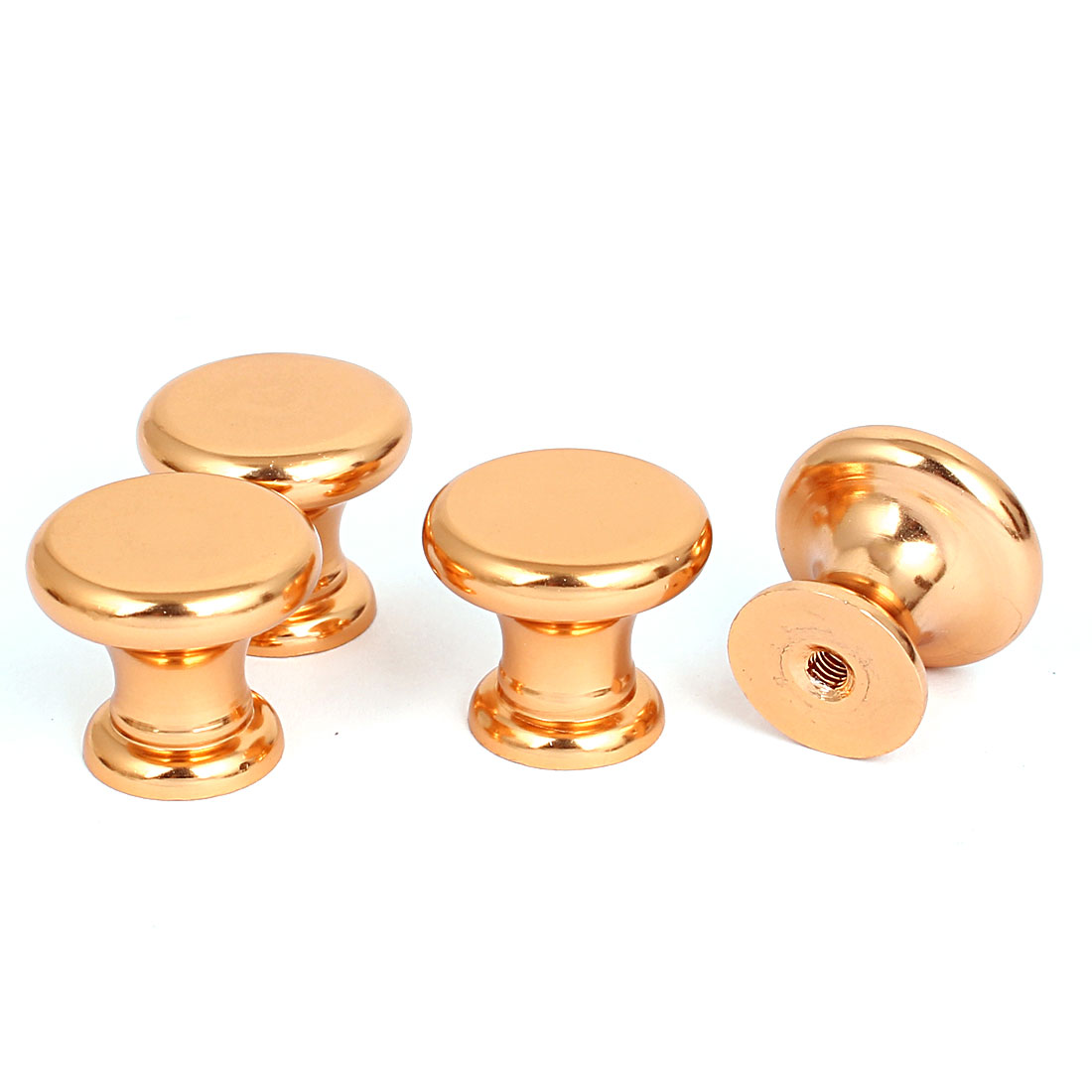 25mm Diameter Metal Ball Shape Drawer Pull Handle Knob Gold Tone 4pcs for Home Office
